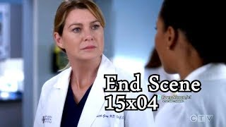 Grey's Anatomy 15x04 Ending Scene Maggie Tells Meredith That Teddy is Pregnant with Owen's Baby