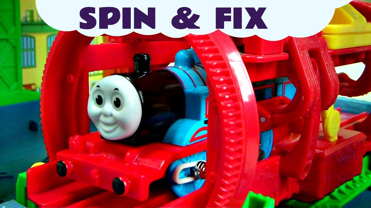 Trackmaster Thomas The Tank Engine SPIN & FIX Kids Toy Train Set Thomas And Friends - YouTube