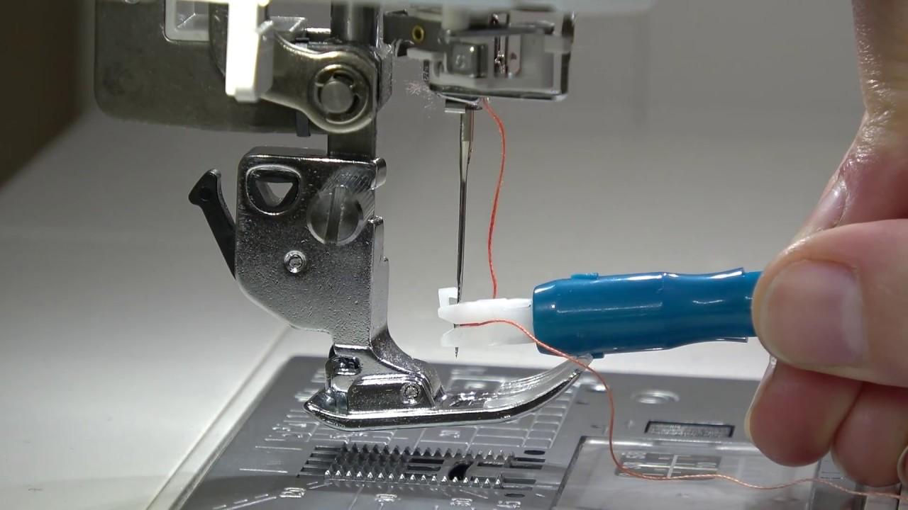 Enhebrador de agujas de máquina - YouTube