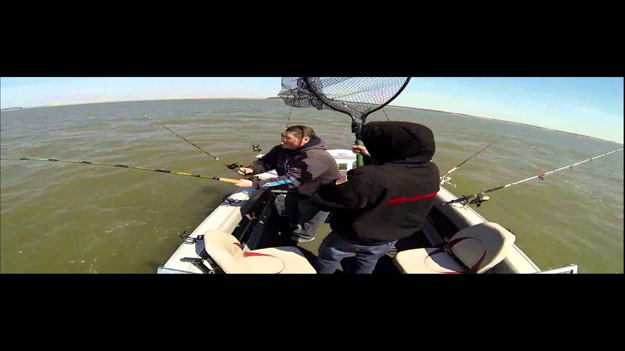 Milford lake ks catfish chasers tourney 4 5 14 youtube for Milford lake fishing report