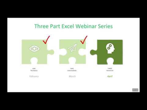 Excel Webinar Part 3