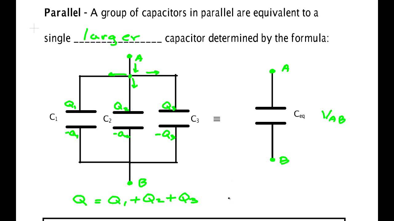 capacitors in series and parallel youtube rh youtube com Car Audio Capacitor Wiring Diagram Wiring Capacitors in Series