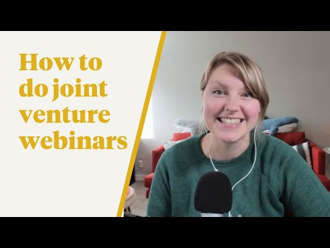 TFS 043: How to Do Joint Venture Webinars