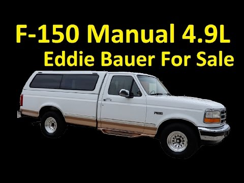 4.9L Manual Ford F150 Pickup Truck For Sale ~ Interior Video Review
