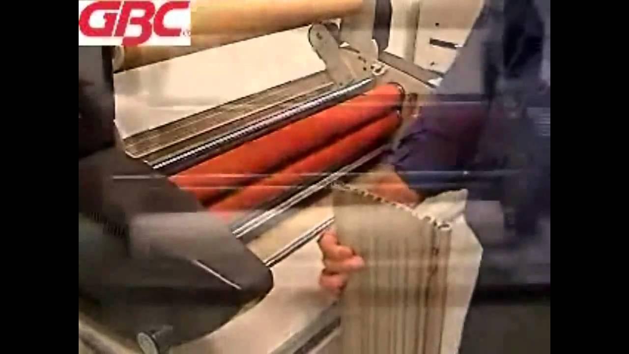 gbc laminator how to change film