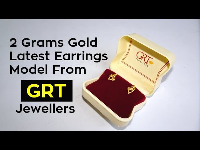 2 Grams Gold Earrings Model From GRT Jewellers | Latest Model | With Price
