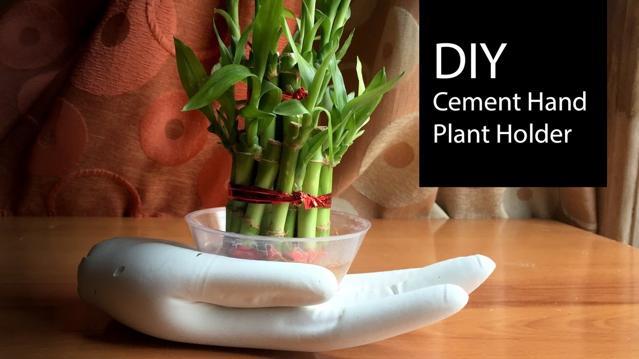 Diy Cement Plant Holder Tutorial How To Make Holders Home Decor Hree S Craft Tv