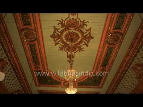Falaknuma Palace Hyderabad - interiors and antique crystal chandeliers
