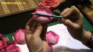 Цветы из ткани. Создание выкройки для розы из ткани (handmade)
