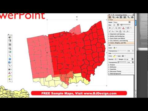 How Do I Set Up A Sales Region Map In PowerPoint BJDesigncom - Microstrategy us county map