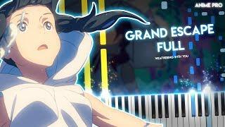 Grand Escape - Tenki No Ko OST/Soundtrack(piano) | RADWIMPS Feat. Toko Miura[Movie Version]