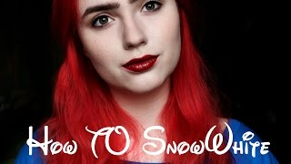 HOW TO Lily Collins as SnowWhite inspired makeup tutorial