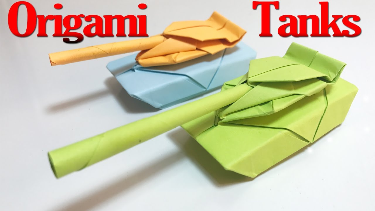 how to make a origami tank step by step tutorial origami