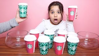 تحدي لا تختار ستاربكس السلايم الخاطئ !!! Don't Choose the Wrong Starbucks Slime Challenge