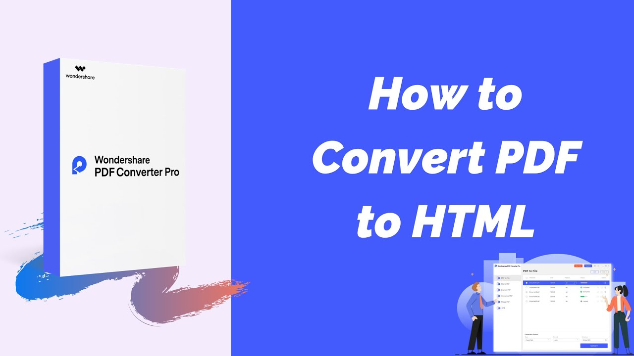How to Convert PDF to HTML Using Wondershare PDF Converter Pro