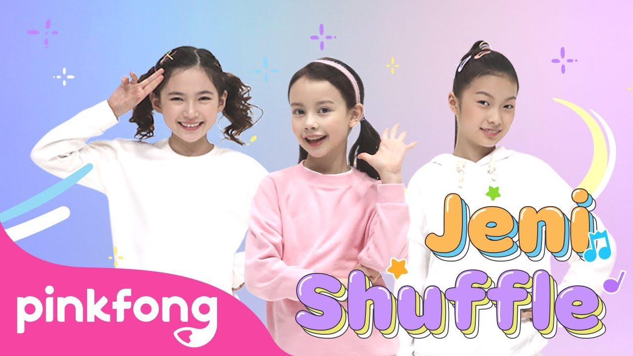 Move like Jeni! 🎶 | Jeni Shuffle | Kids Choreography | Performance Video | Pinkfong Kids Pop Dance