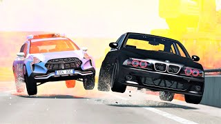 Epic Police Chases & Crashes #60 - BeamNG Drive   CRASHdriven