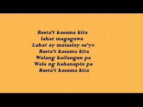 Daryl Ong -Basta't Kasama Kita (lyrics)