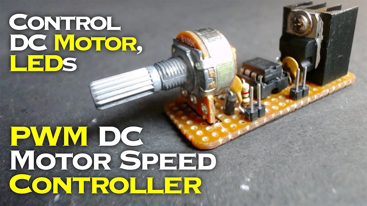 Pwm dc motor speed controller led dimmer using ne555 for Dimmer for motor speed control