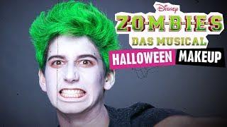 ZOMBIES - DAS MUSICAL // Halloween MAKEUP TUTORIAL | Disney Channel
