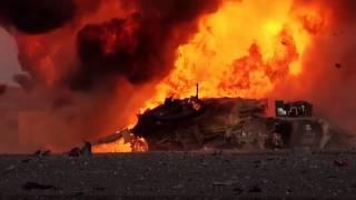 بالفيديو - لحظة تفجير دبابة  ''أبرامز'' على أيدي داعش