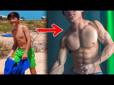 1 YEAR BODY TRANSFORMATION TEEN   SKINNY TO MUSCLE   17 Year Old Bodybuilder   Leon Vonlanthen