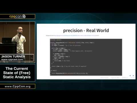 "CppCon 2015: Jason Turner ""The Current State of (free) Stati"