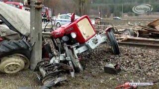 NA SYGNALE: Wypadek lokomotywy z ciągnikiem rolniczym