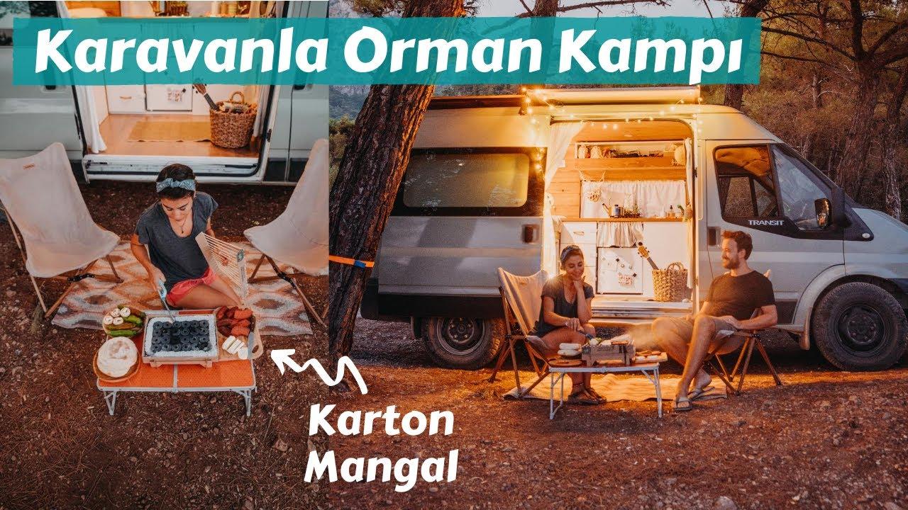 Karavanla Ormanda Kamp - Kartondan Mangal, Sucuk Ekmek - Trail of Us Van Life