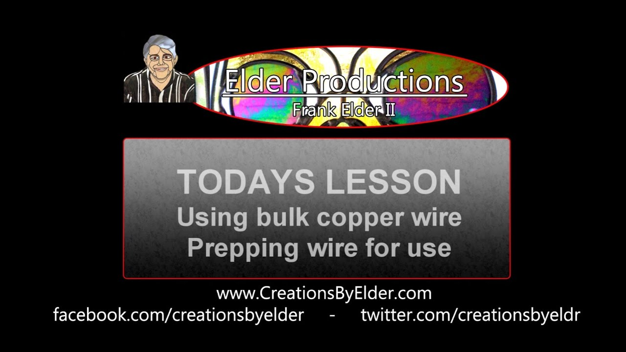 Stained Glass - Using Bulk Copper Wire - Creations By Elder - YouTube