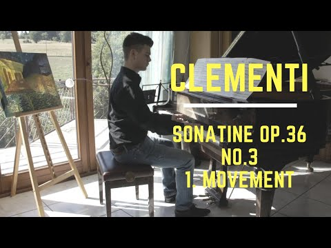 "Muzio Clementi - ""Sonatine Op.36 No.3 (1.movement)"" - FEDALEX-Music ♫"