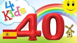 Aprender contar los números de 31 a 40 - para niños y bebés (español)