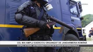 Cel mai amplu exercitiu organizat de Jandarmeria Romana - www.columnatv.ro