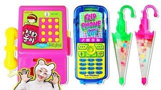 Mukbang Phone Candy Dessert Box Umbrella candy 캔디 먹방 MUKBAN - 로미유브이로그 [Romiyu Vlog]