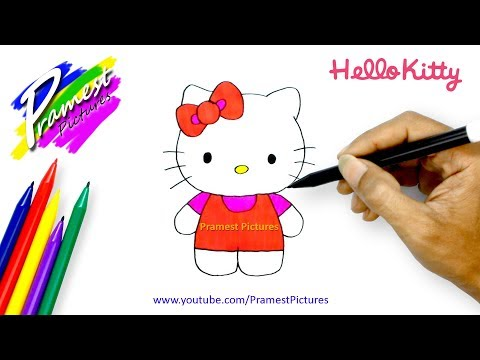 How To Draw Hello Kitty - Coloring Pages For Kids