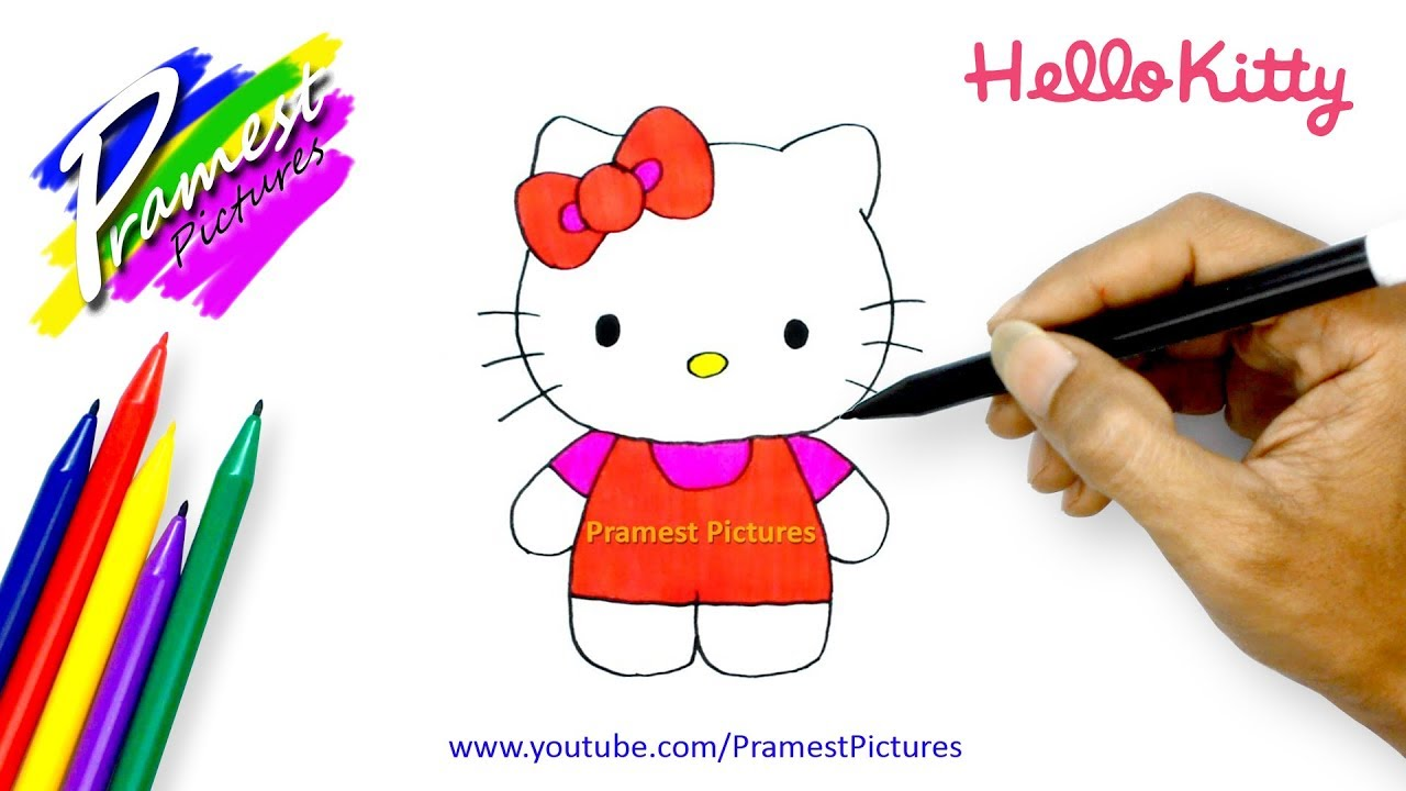 How To Draw Hello Kitty Coloring Pages For Kids