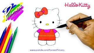 Hello Kitty 🎨 (Cara Menggambar dan Mewarnai Gambar Kartun | How to Draw Hello Kitty)