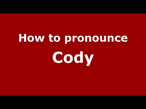 How to pronounce Cody (American English/US) - PronounceNames.com