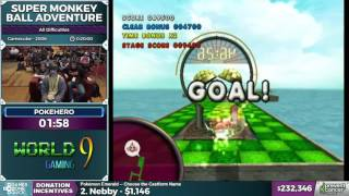 Super Monkey Ball Adventure by pokehero in 18:13 - AGDQ 2017 - Part 36