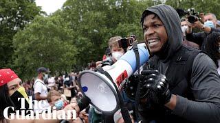 John Boyega makes impassioned speech at Black Lives Matter protest in London