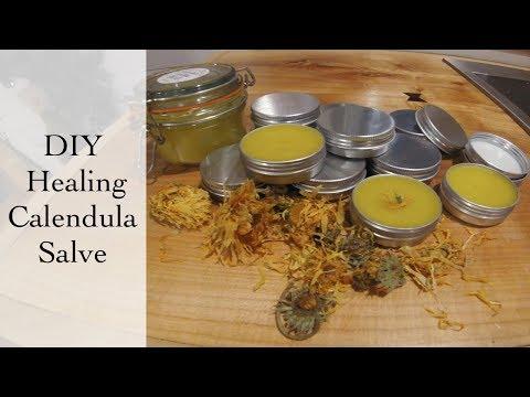 Natural Skin Healing Calendula Salve - DIY Recipe