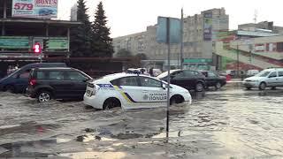 Хвилі на березі вул. Космонавтів, Вінниця.