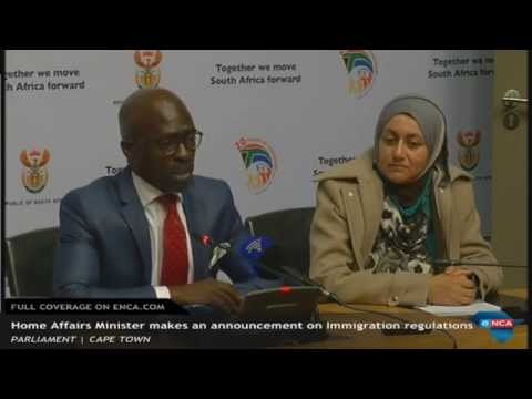 LIVE: Home Affairs make an announcement on Immigration regulations