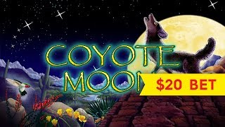 Coyote Moon Slot - $20 Max Bet - GREAT SESSION!