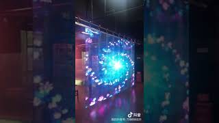 Transparent led Video wall hanging advertising