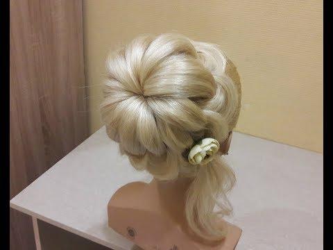 Прически для девочек на длинные волосы на выпускной видео уроки