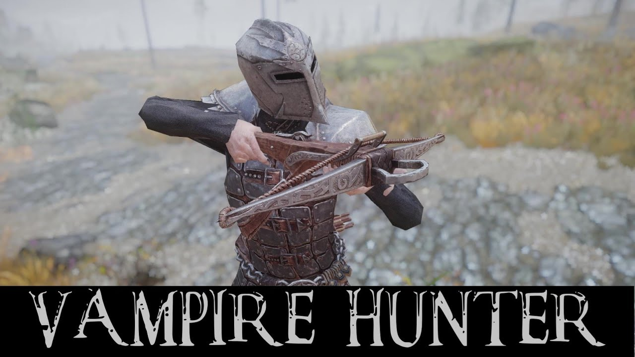 Skyrim Vampire Hunter Mods - Dawnguard HD Armor, Silver Weapons, Crossbows  & Vampire Hunter Home