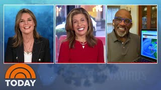 Today's savannah guthrie has a sore throat and sniffles, so out of an abundance caution she is co-anchoring wednesday's today show from makeshift studio...