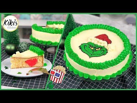 Ein Herz für den Grinch - Torte mit Überraschung| by Kikis Kitchen
