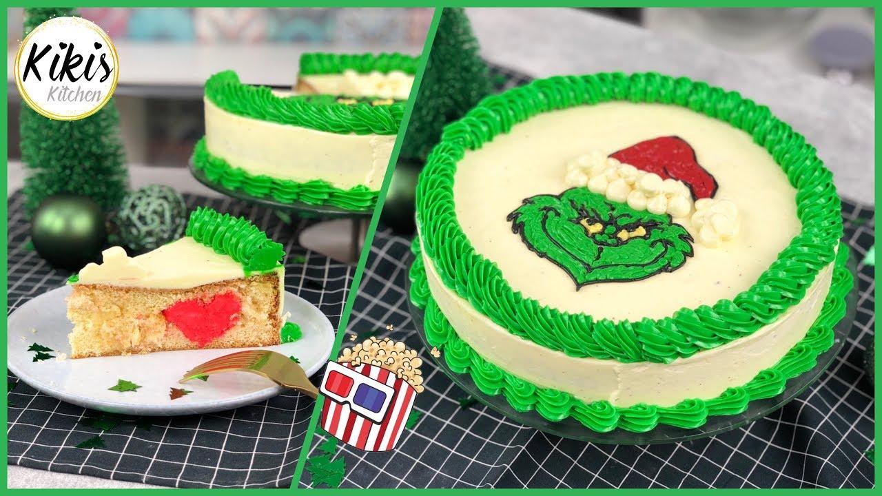 Ein Herz Fur Den Grinch Torte Mit Uberraschung By Kikis Kitchen